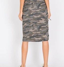 Camo Midi Skirt
