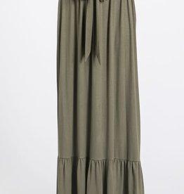 Tie Waist Maxi Skirt