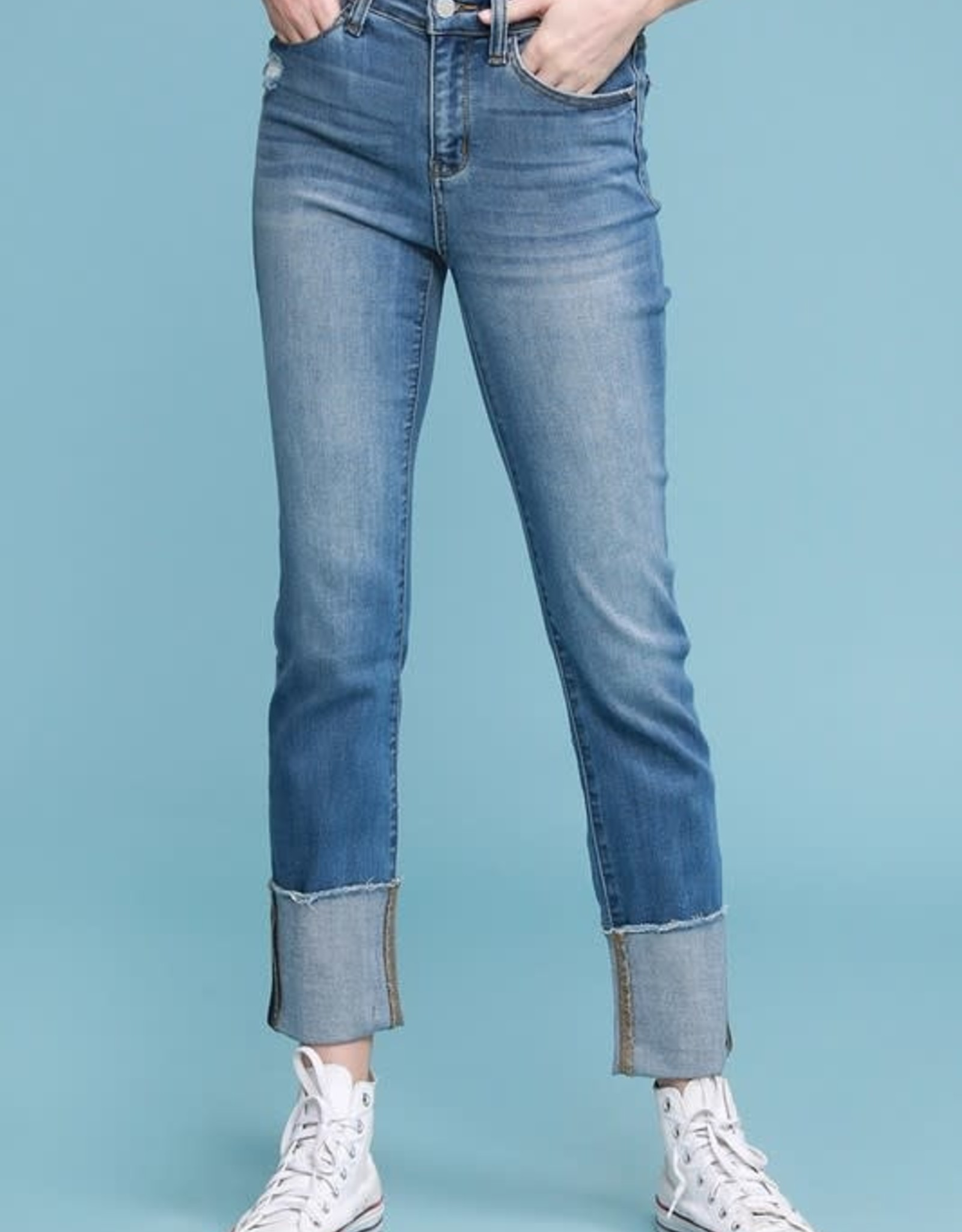 Judy Blue Straight Cuffed Jean