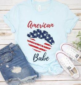 American Babe Flag Lips