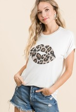 Leopard Lip Top