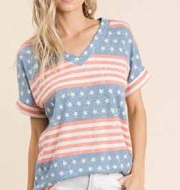 Flag printe Thermal Tunic
