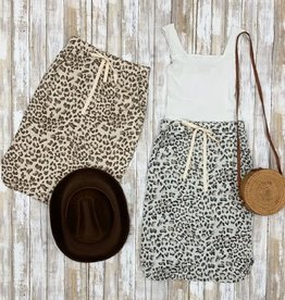 Animal Print drawstring skirt
