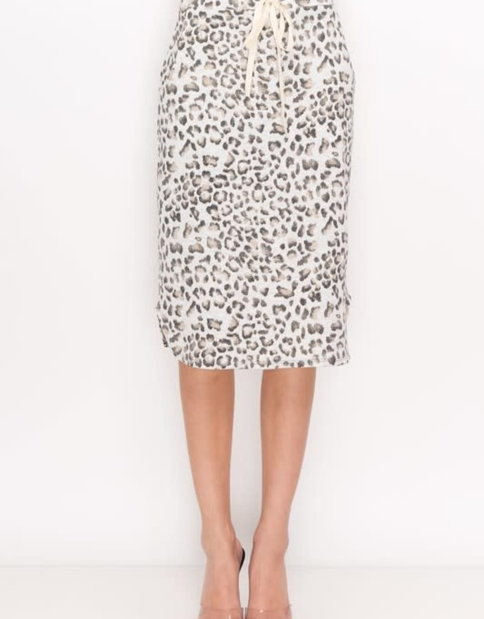 Animal Print drawstring skirt