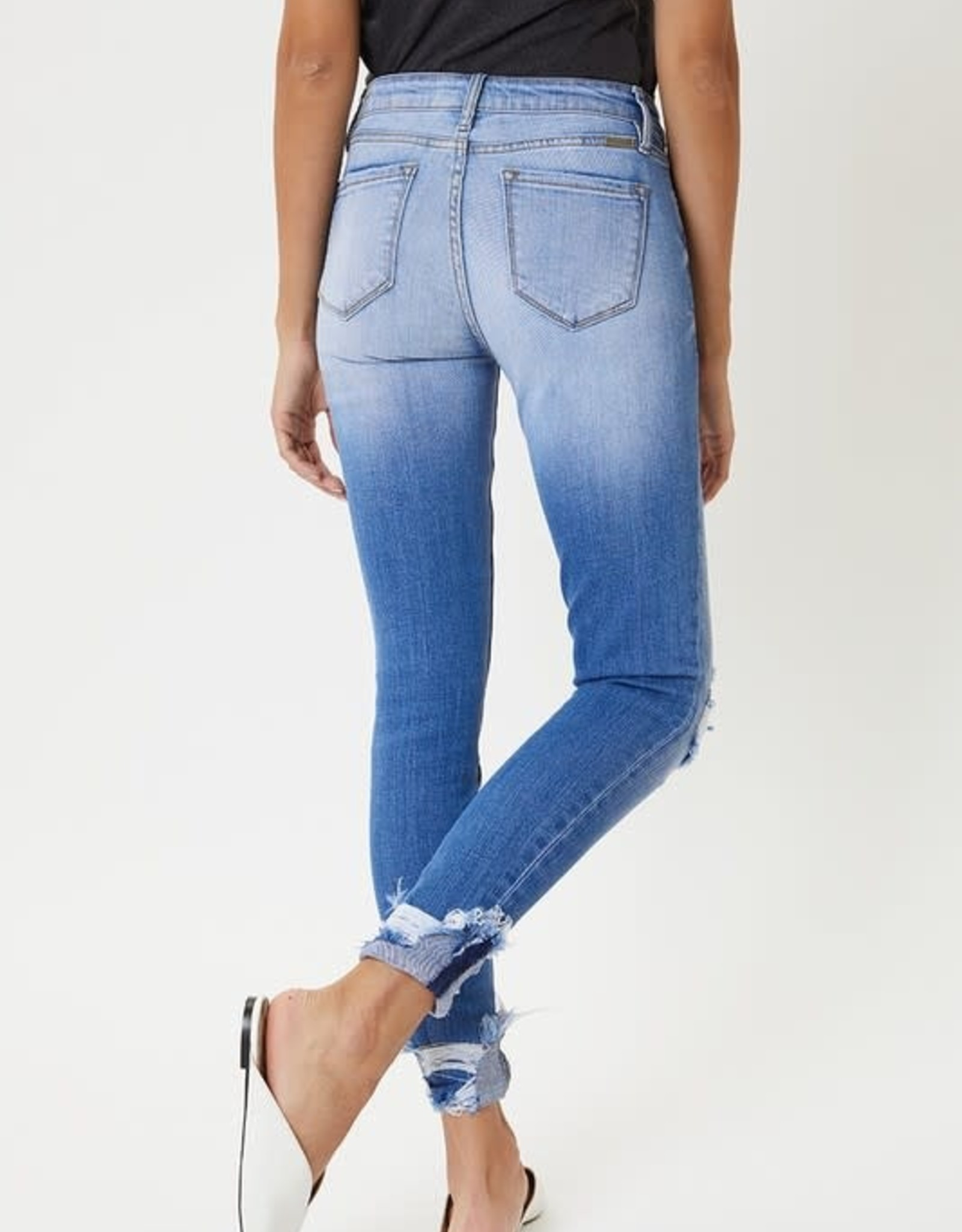 Mid-Rise Distressed Ankle Skinny