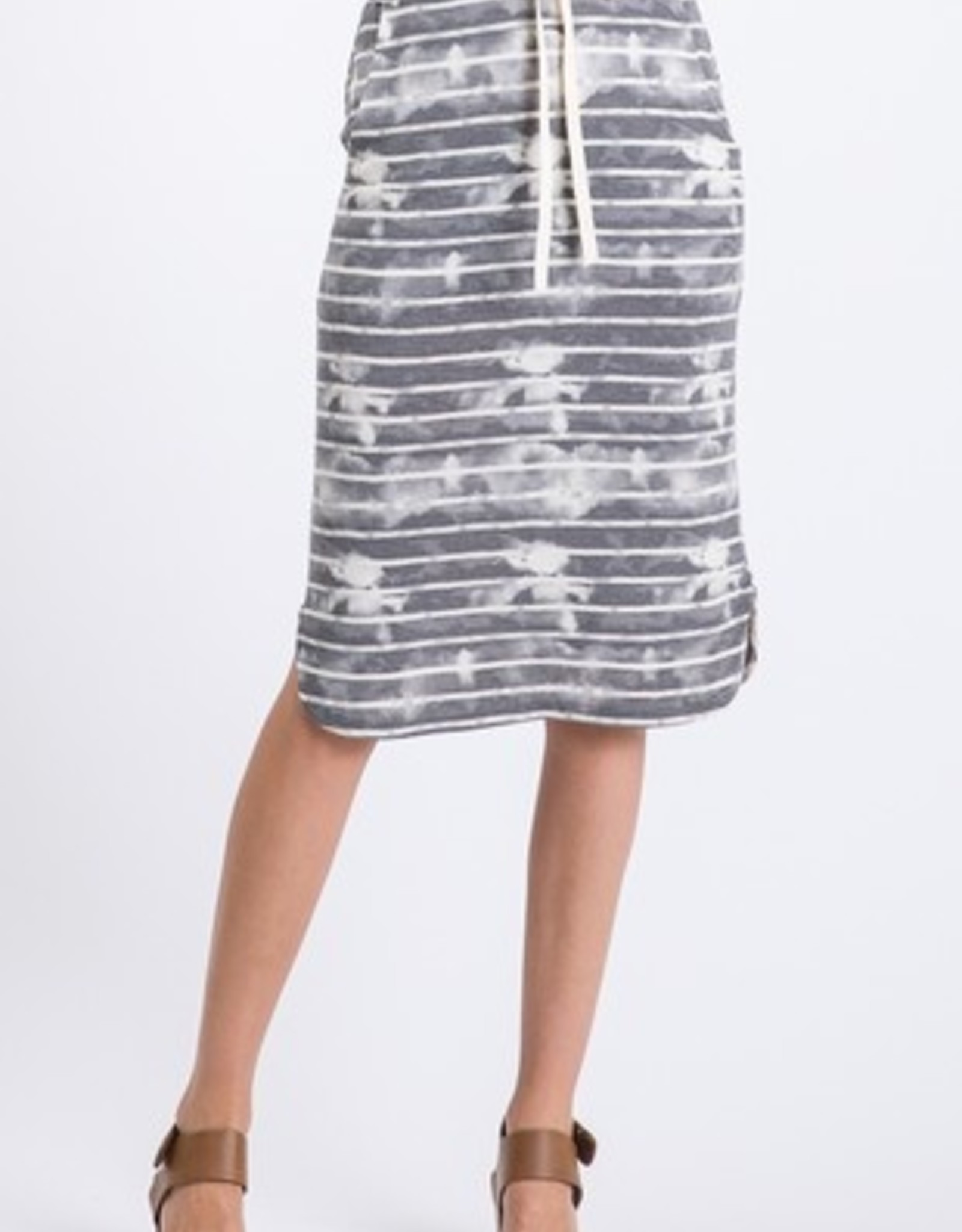 Stripe Tye Dye Skirt