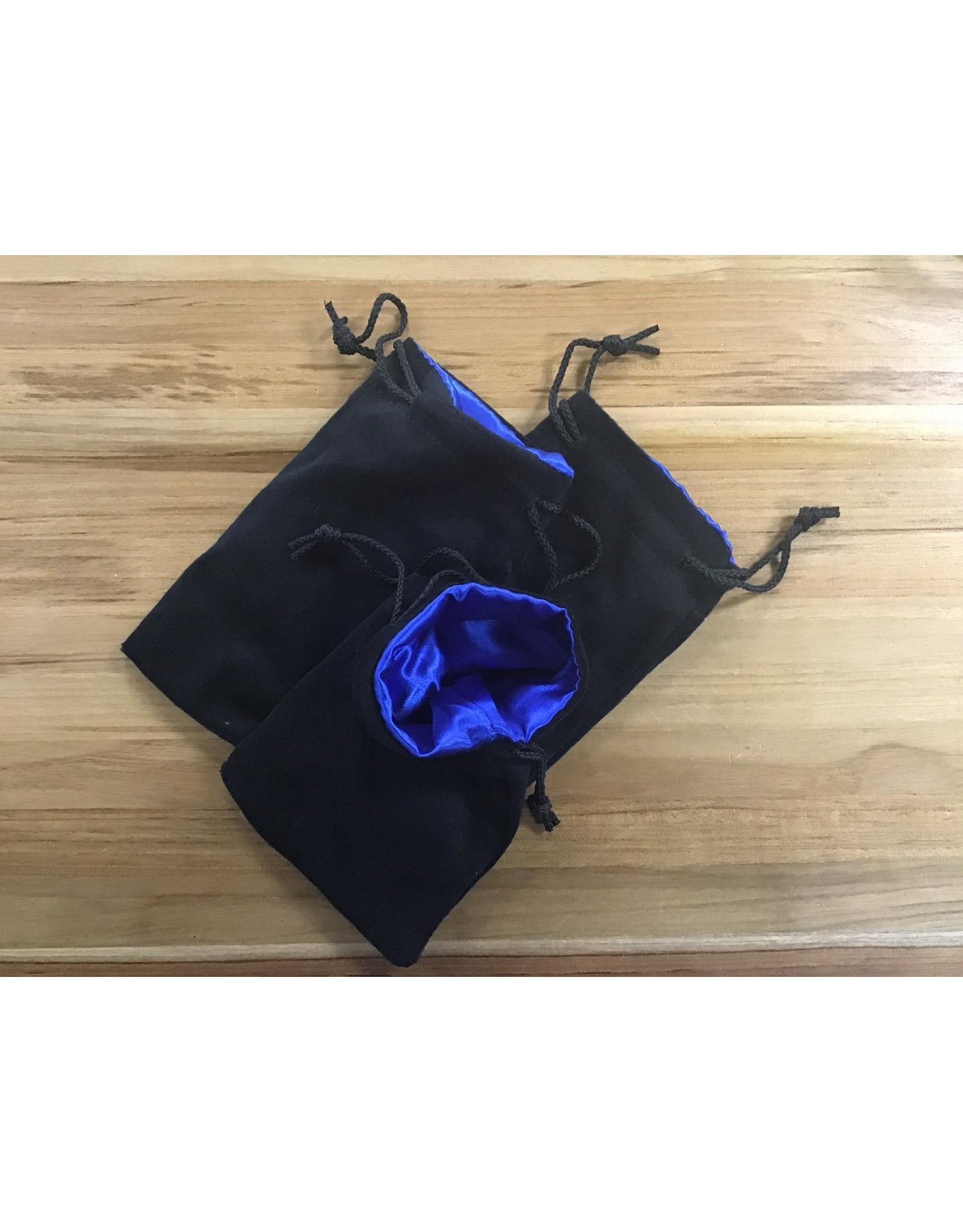 Velvet Dice Bag Large - Black & Blue
