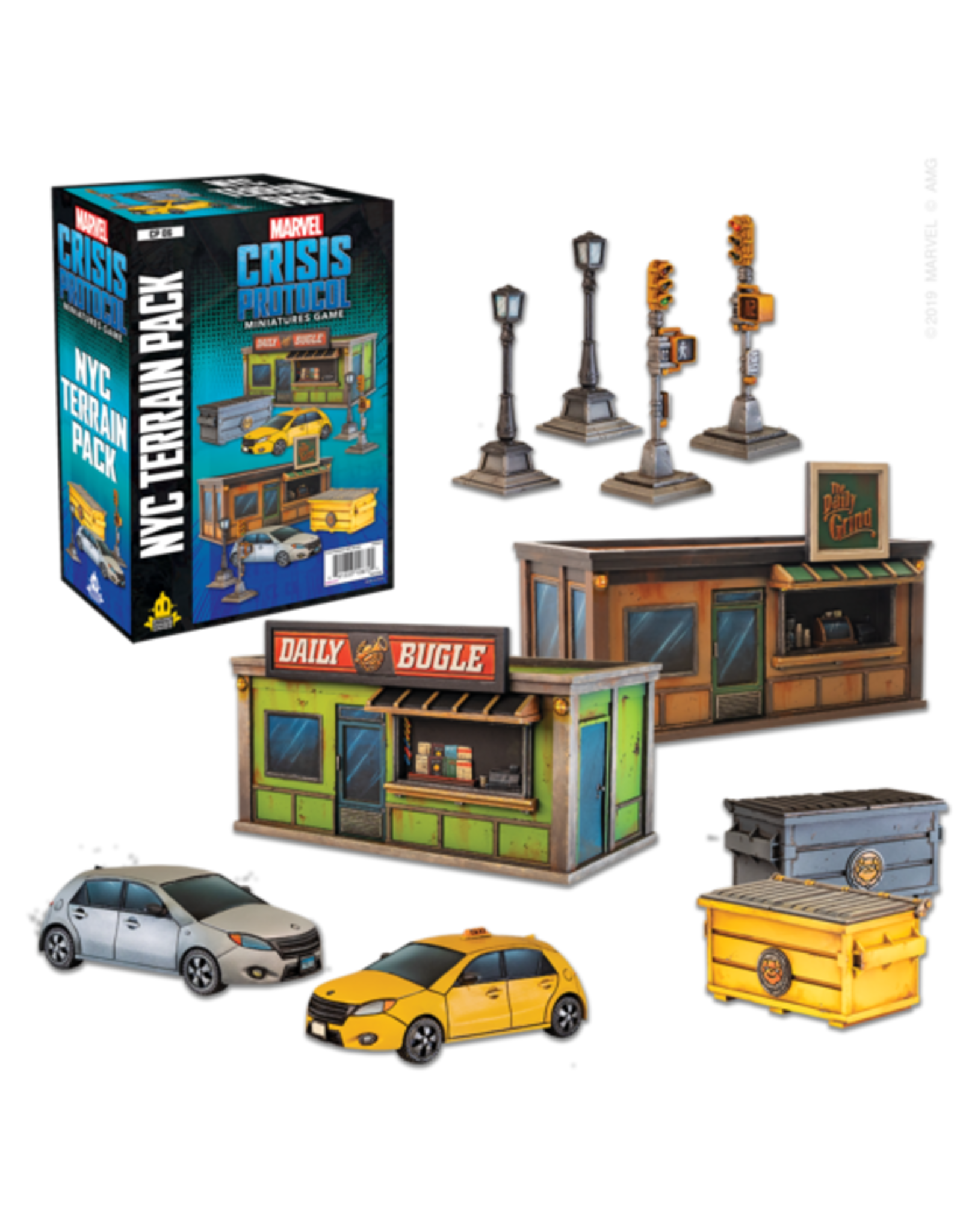 Atomic Mass Games Marvel Crisis Protocol - NYC Terrain Pack