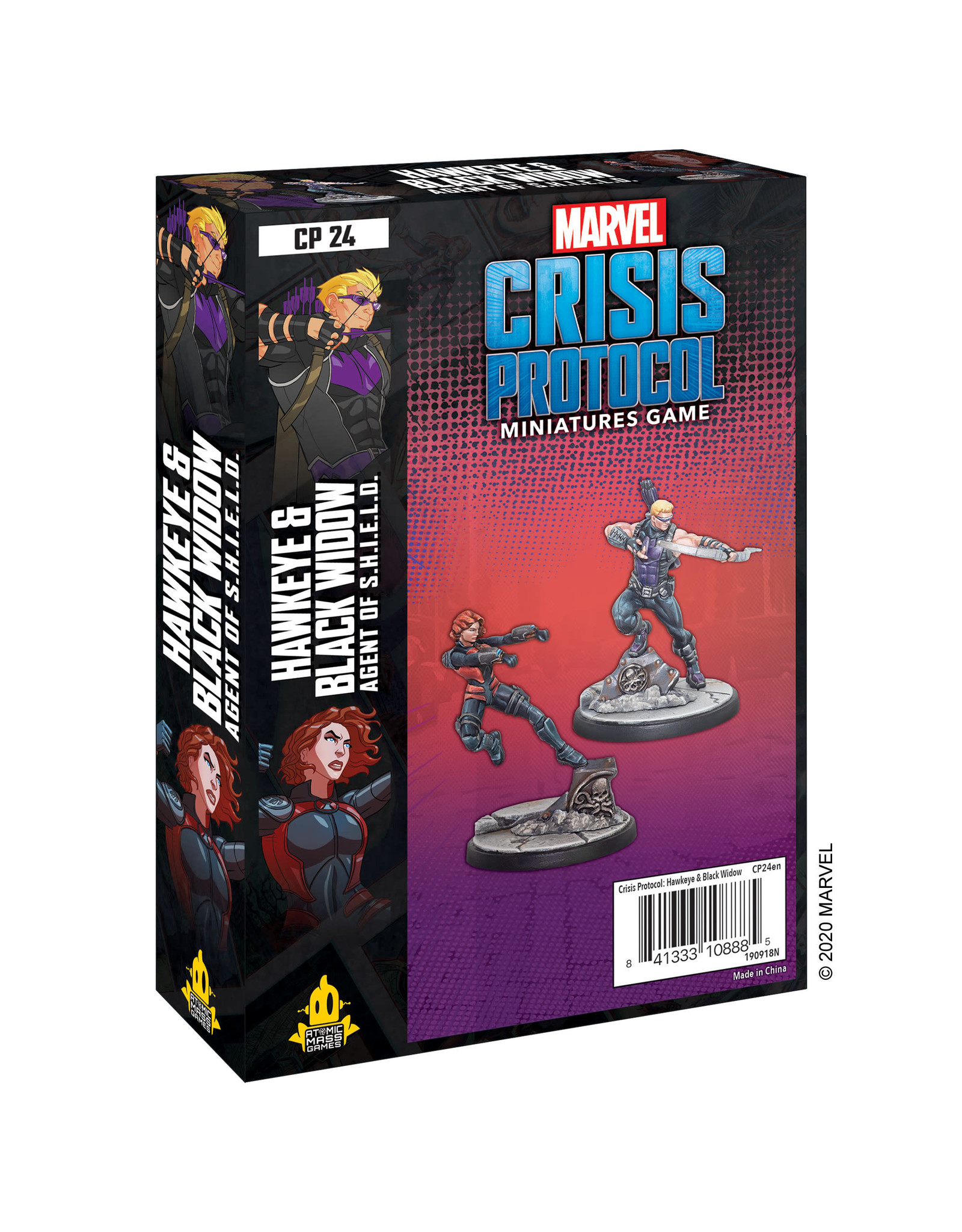 Atomic Mass Games Marvel Crisis Protocol - Hawkeye & Black Widow