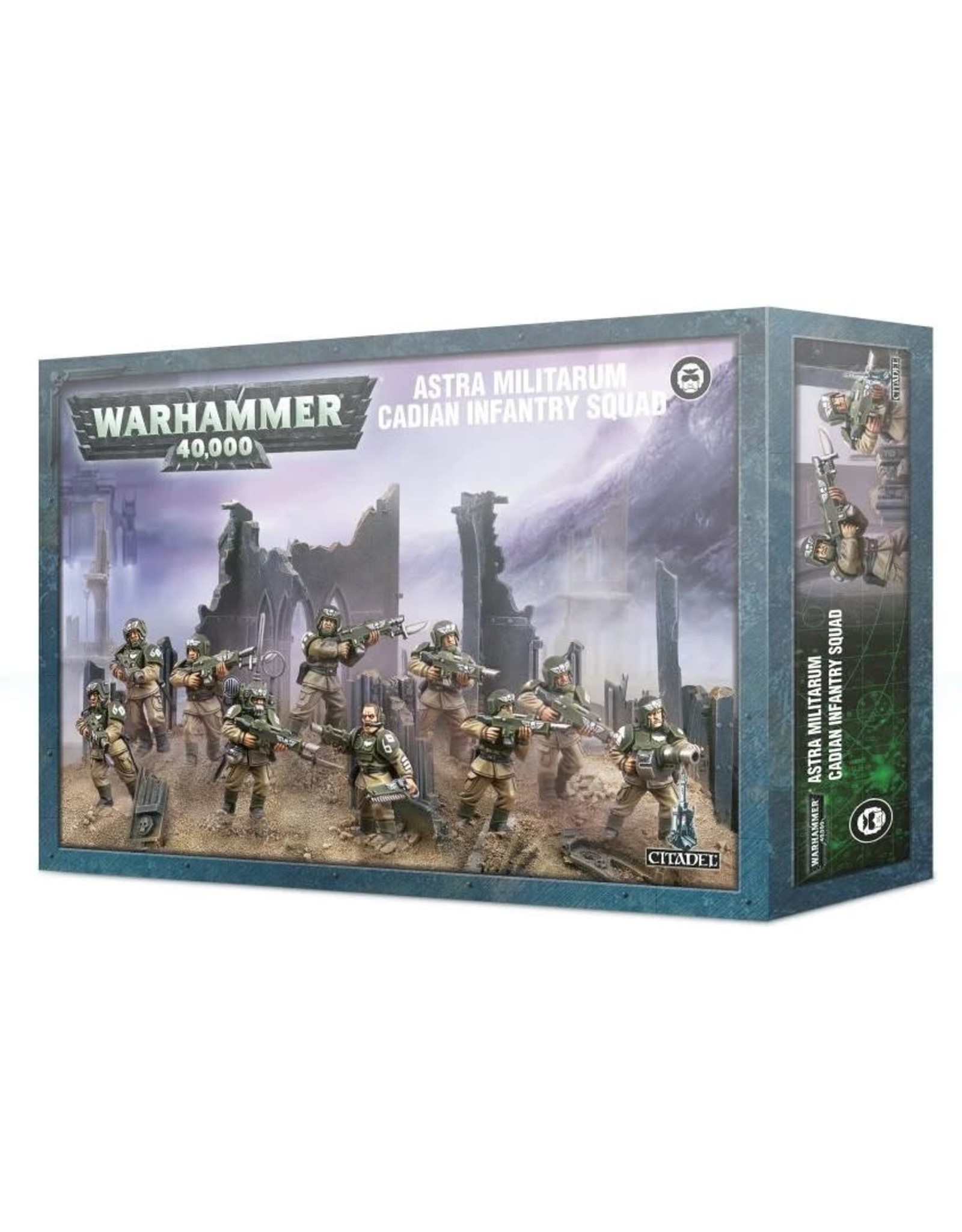 Warhammer 40K WH40K Astra Militarum Cadians Infantry Squad