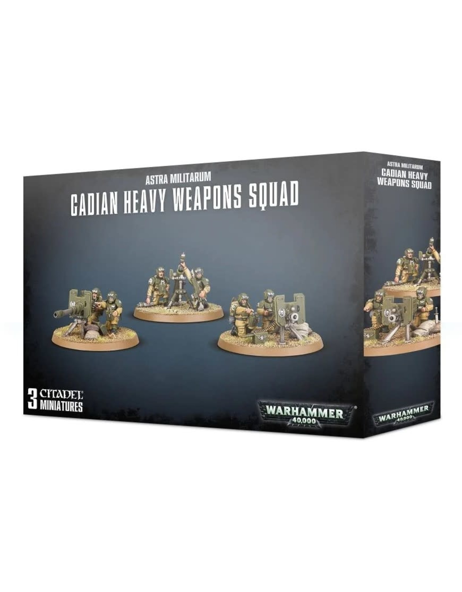 Games Workshop WH40K Astra Militarum Cadians Heavy Weapons Squad