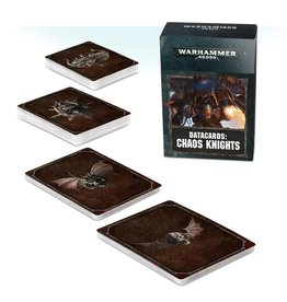 Warhammer 40K WH40K Chaos Knights Data Cards