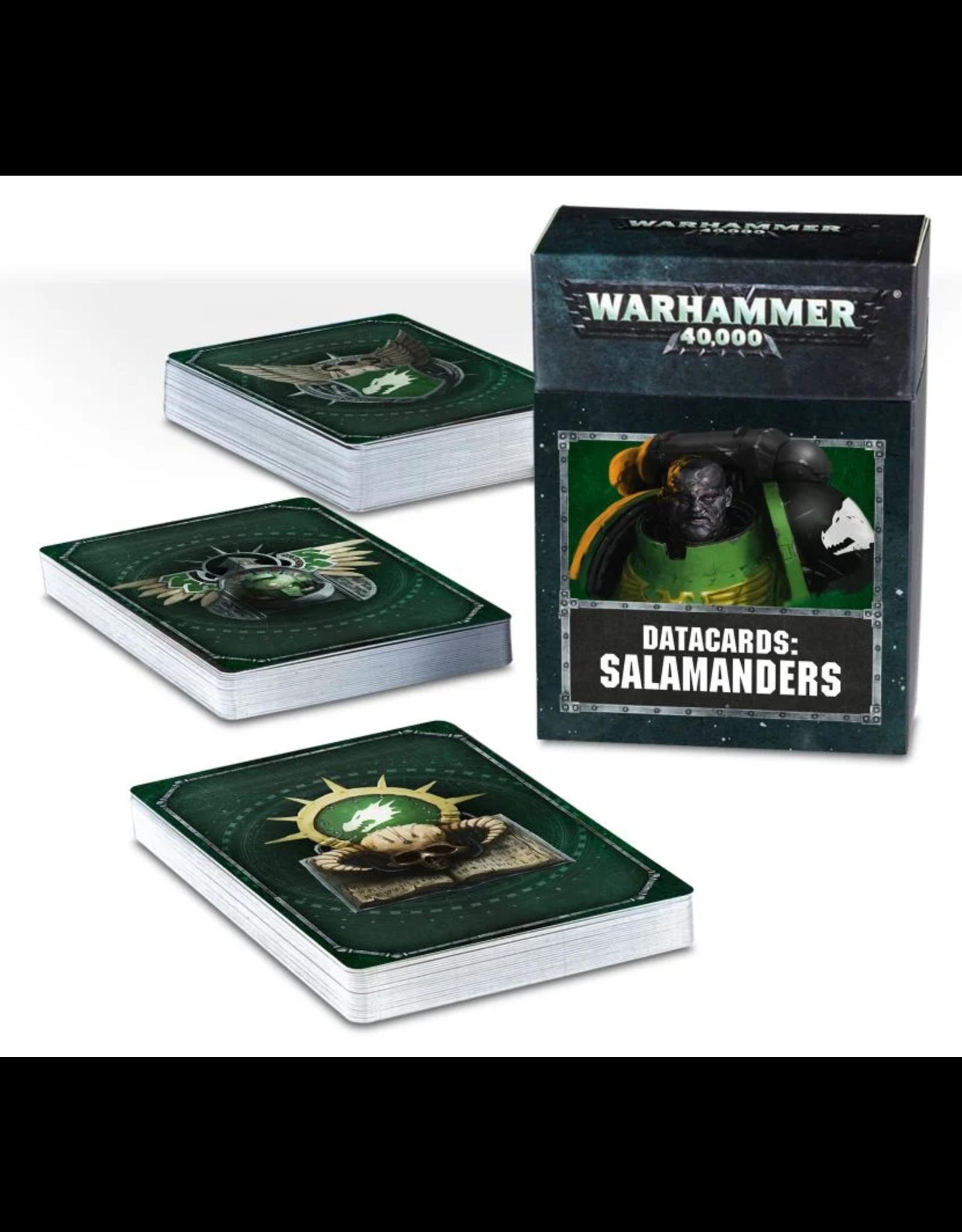 Games Workshop WH40K Salamanders Data Cards