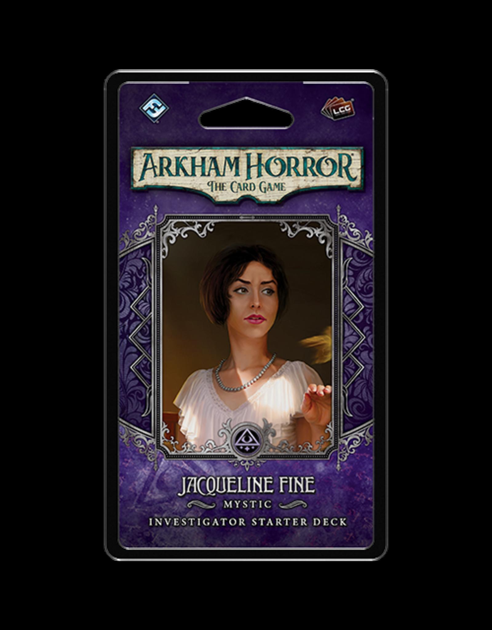 Fantasy Flight Games Arkham Horror LCG Jacqueline Fine Investigator Starter Deck