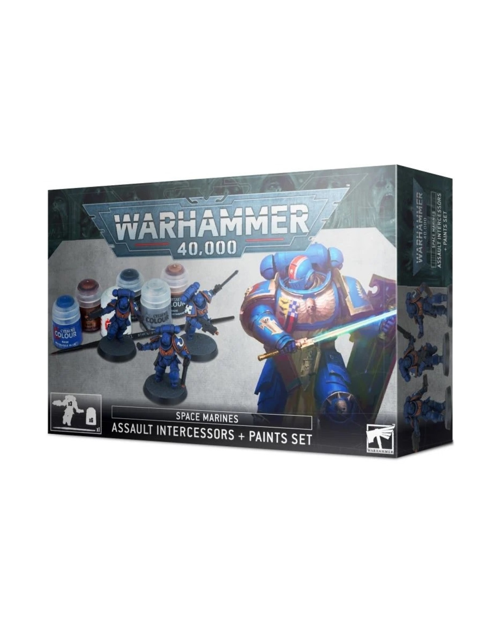Games Workshop WH40K Space Marines Assault Intercessors + Paint Set