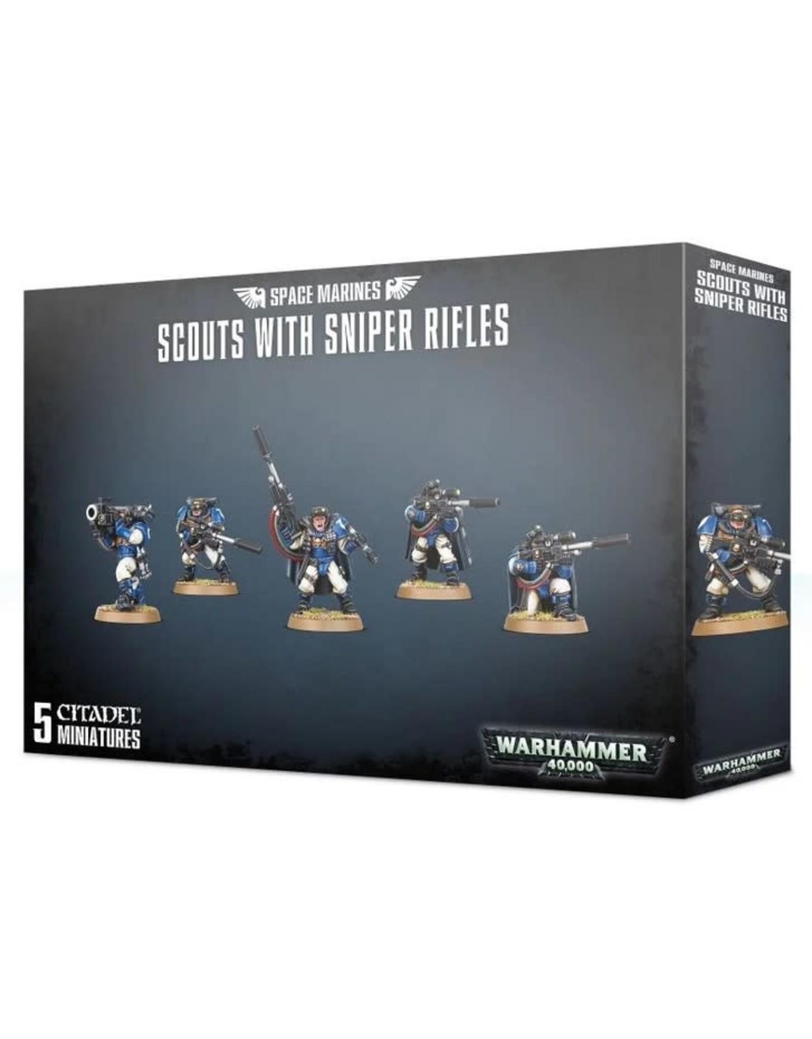 Warhammer 40K WH40K Space Marine Scouts w/ Sniper Rifles