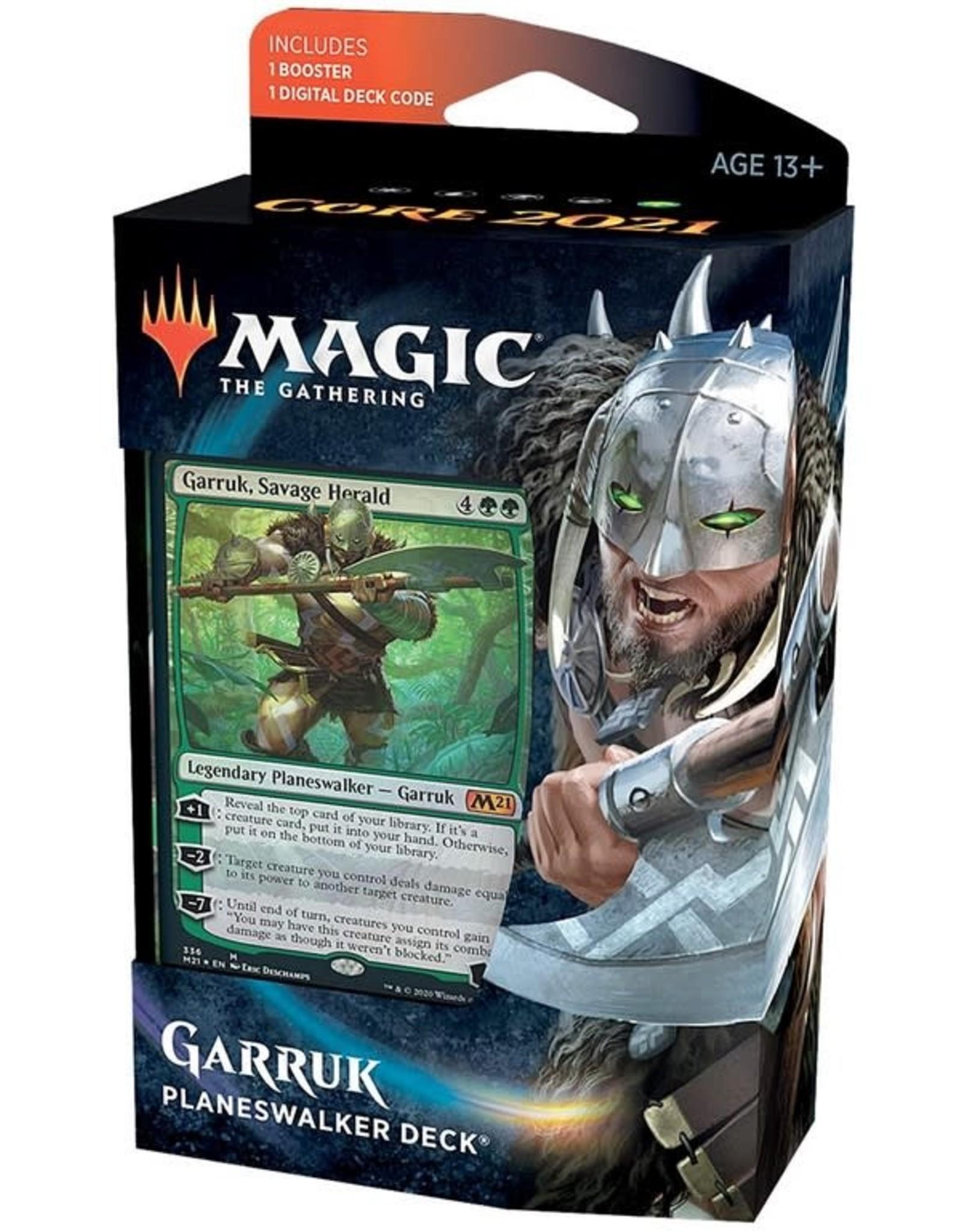 Wizards of the Coast MtG Core M21 Planeswalker Garruk