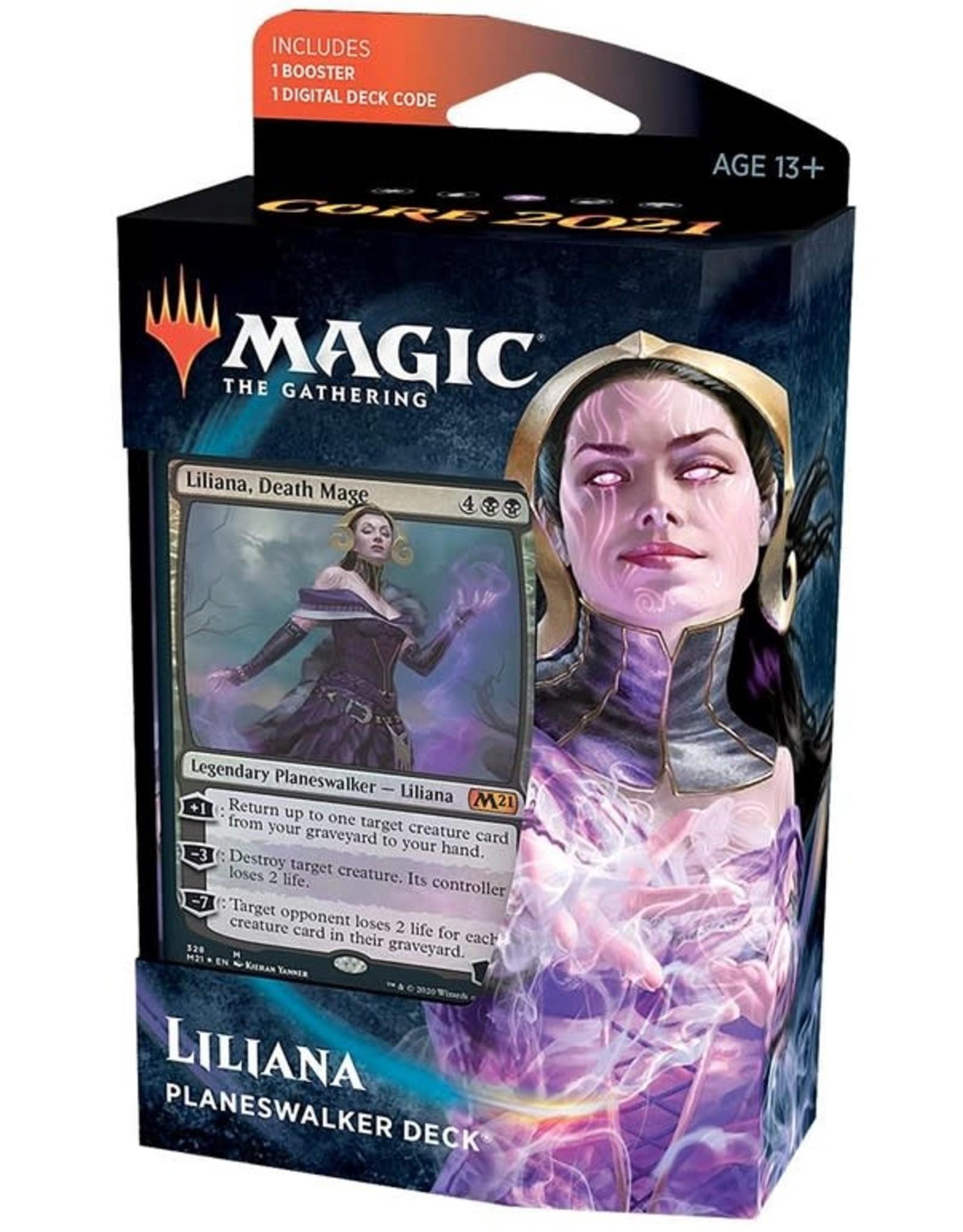 Wizards of the Coast MtG Core M21 Planeswalker Liliana