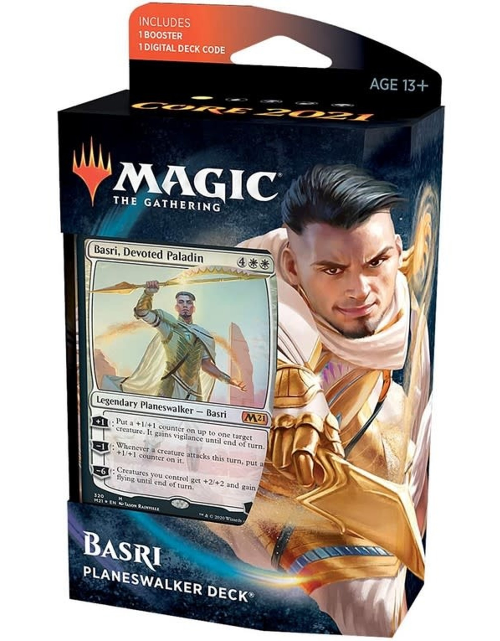 Wizards of the Coast MtG Core M21 Planeswalker Basri