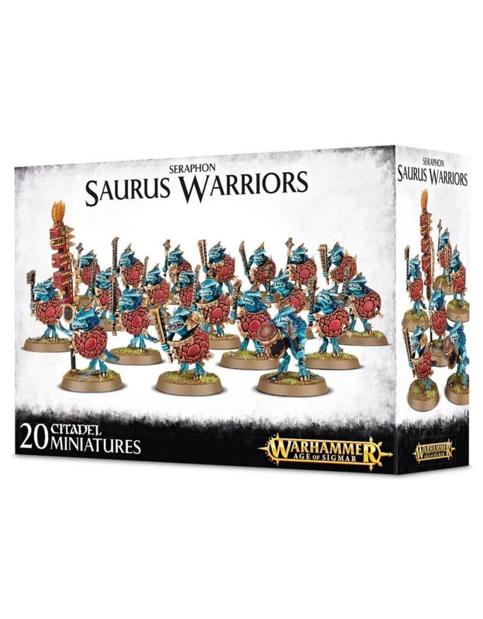 Warhammer AoS WHAoS Seraphon Saurus Warriors