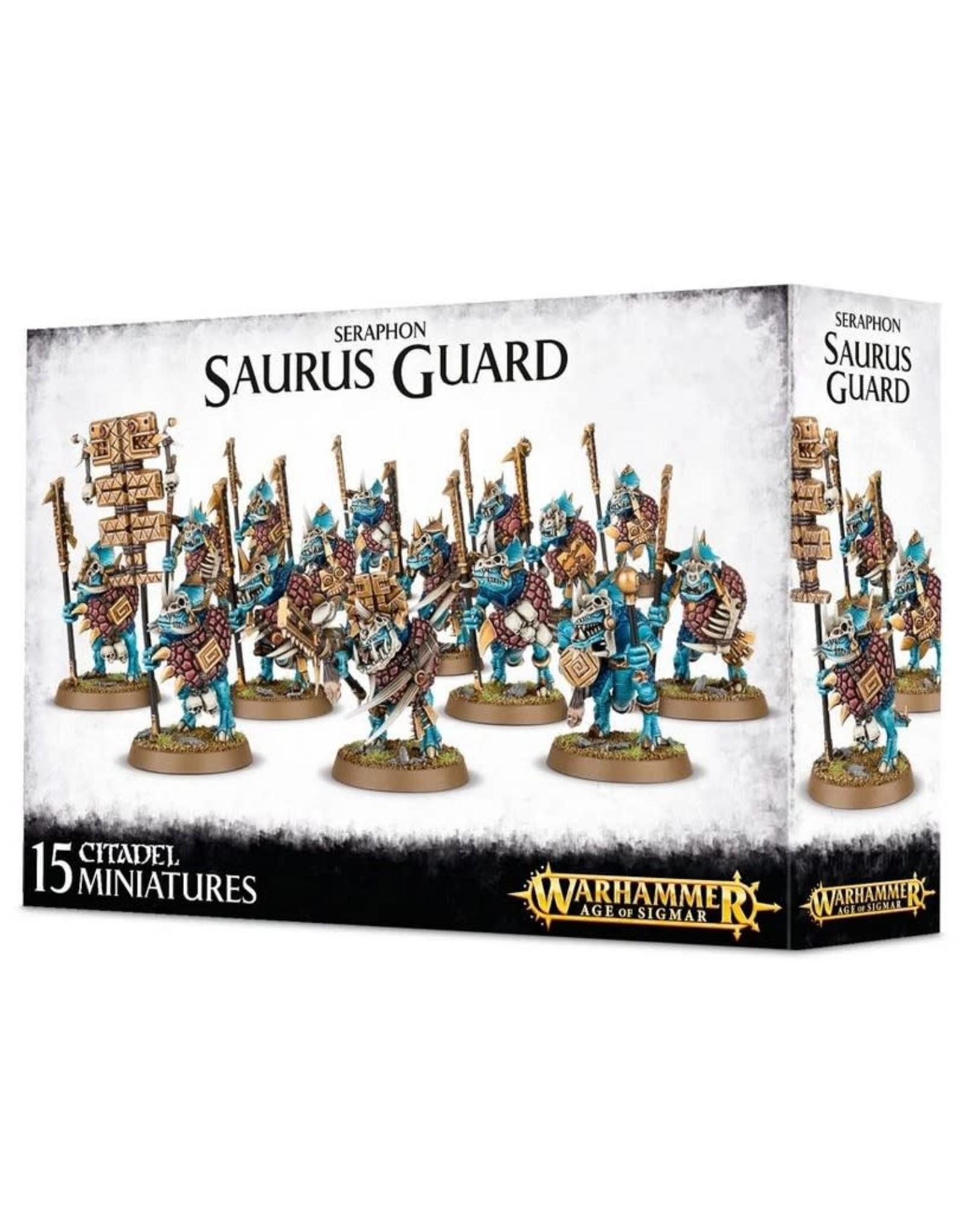 Warhammer AoS WHAoS Seraphon Saurus Guard