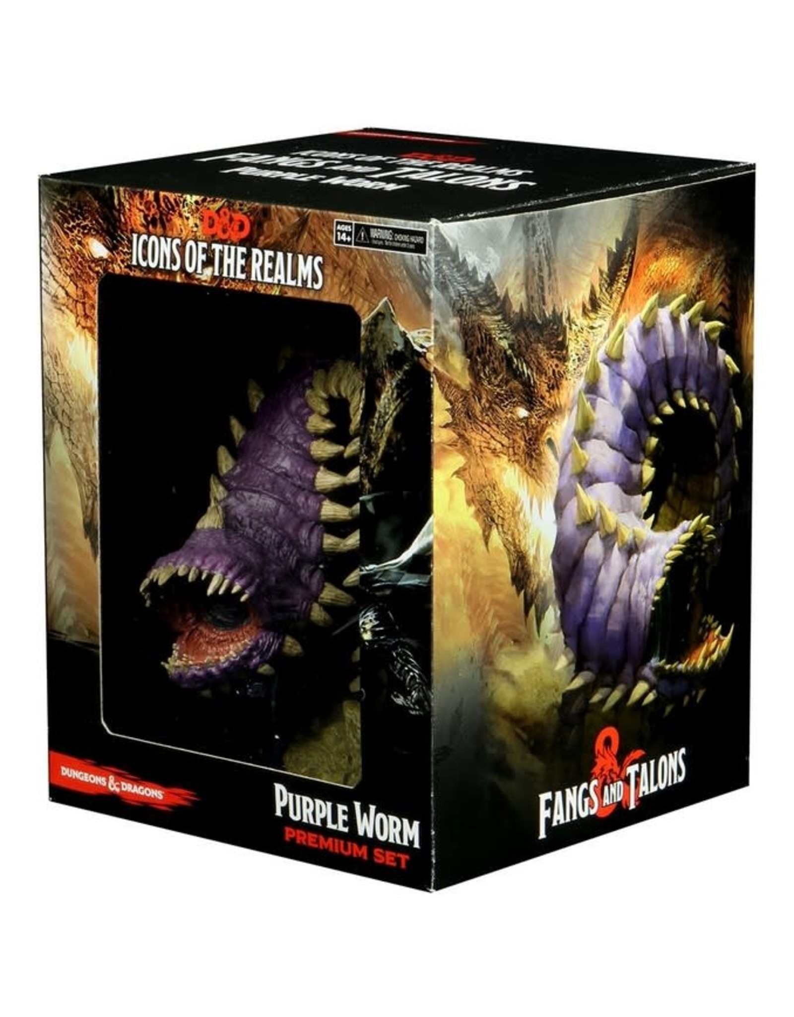 WizKids D&D Icons of the Realms Fangs and Talons: Purple Wurm
