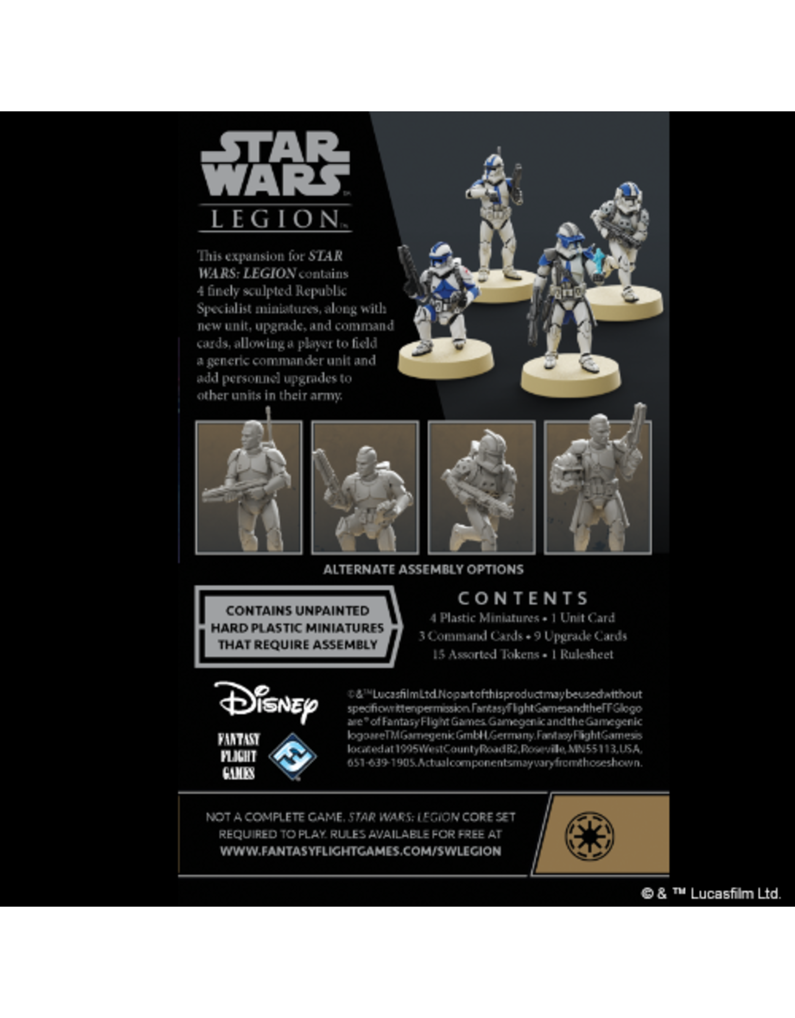 Fantasy Flight Games Star Wars Legion - Republic Specialists
