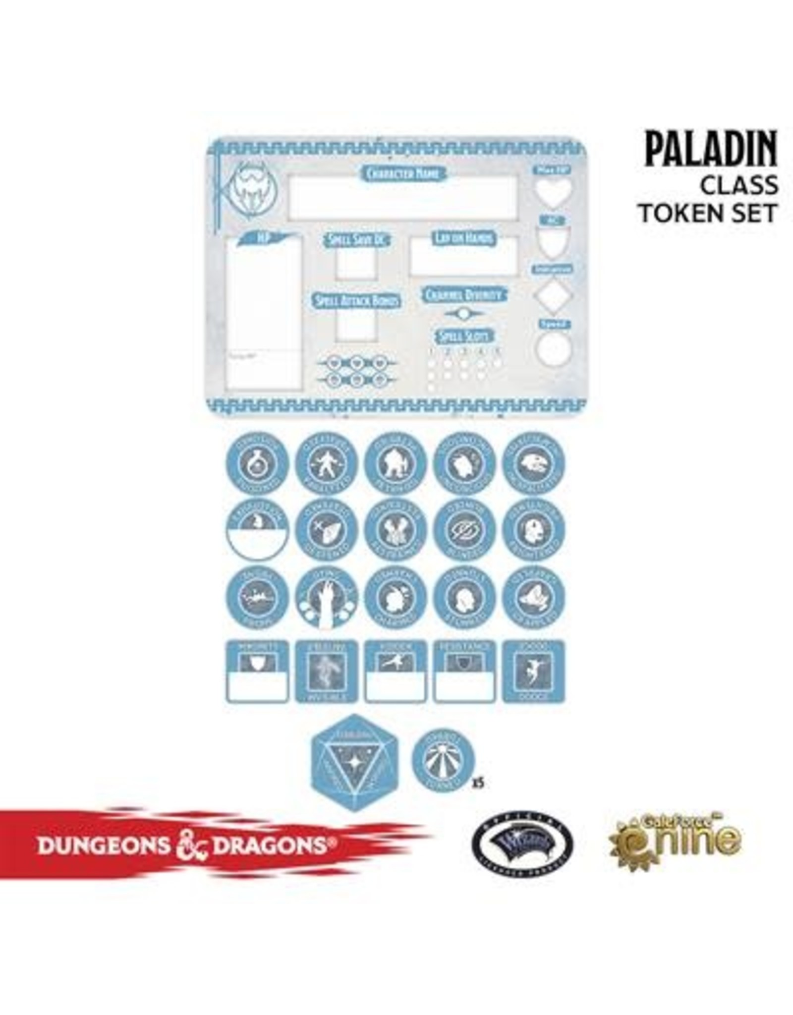 GaleForce nine D&D 5E: Player Token Set - Paladin