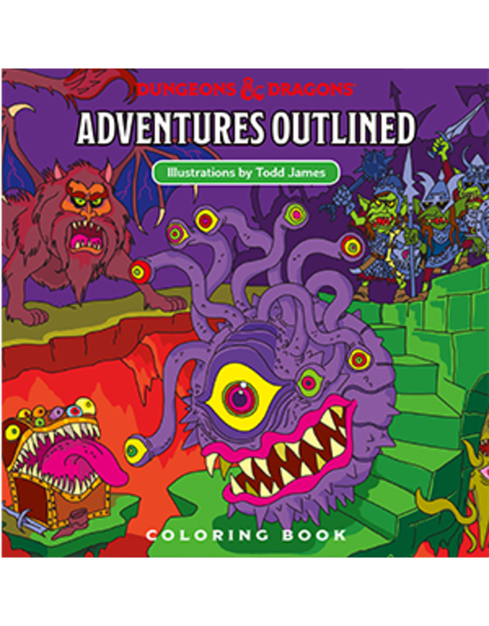Wizards of the Coast D&D Adventures Outlined Coloring Book