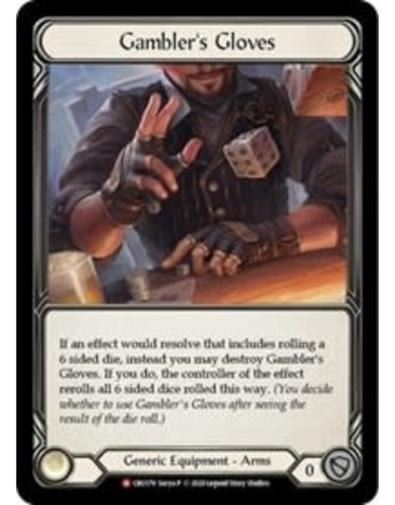 Legend Story Studios Flesh and Blood Single : Gambler's Gloves Crucible of War Non Foil