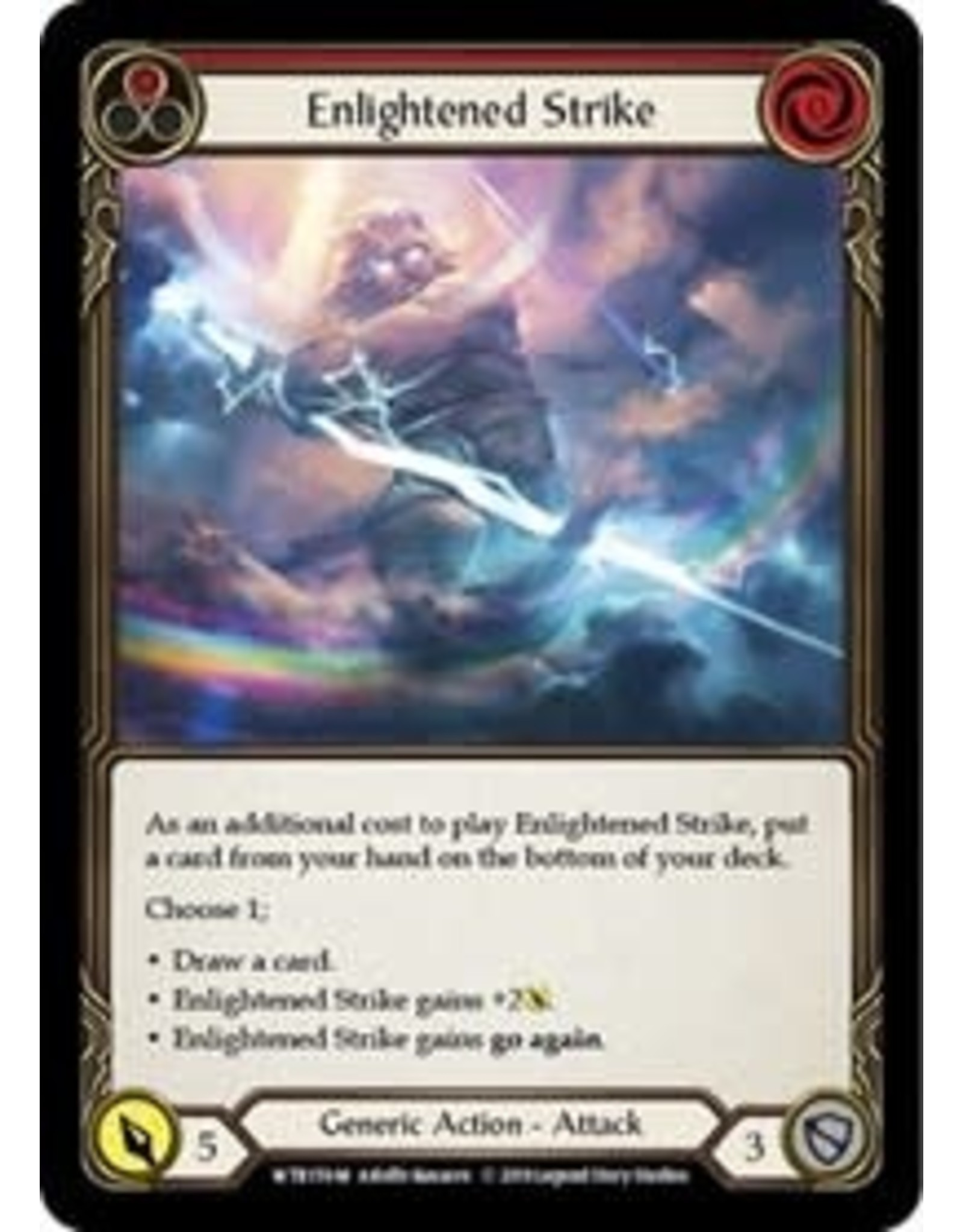 Legend Story Studios Flesh and Blood Single : Enlightened Strike Welcome to Rathe Unlimited Non Foil