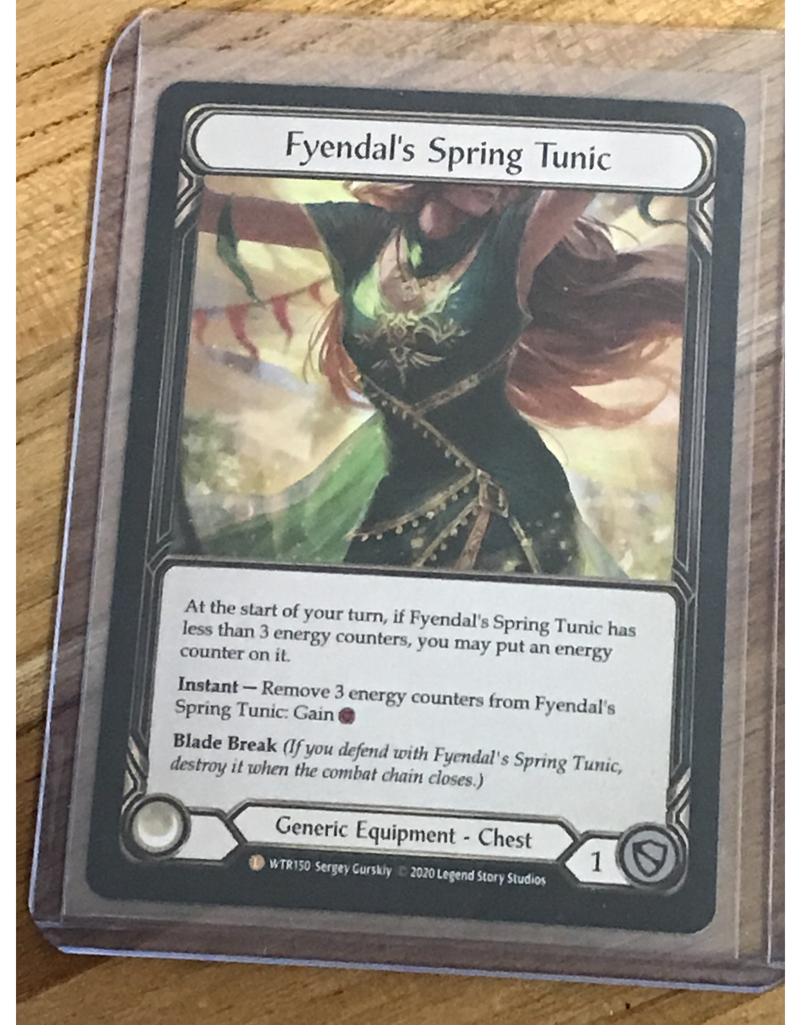 Legend Story Studios Flesh and Blood Single : Fyendal's Spring Tunic Welcome to Rathe Unlimited Rainbow Foil