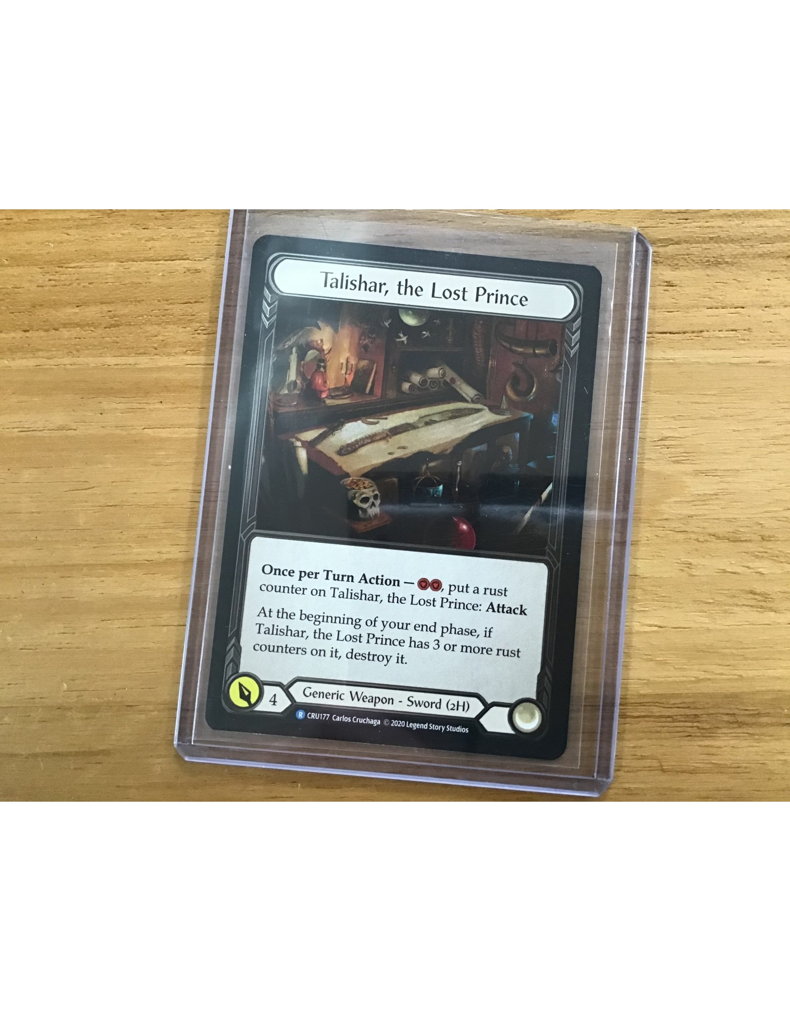Legend Story Studios Flesh and Blood Single :Talishar, the Lost Prince Crucible of War Cold Foil