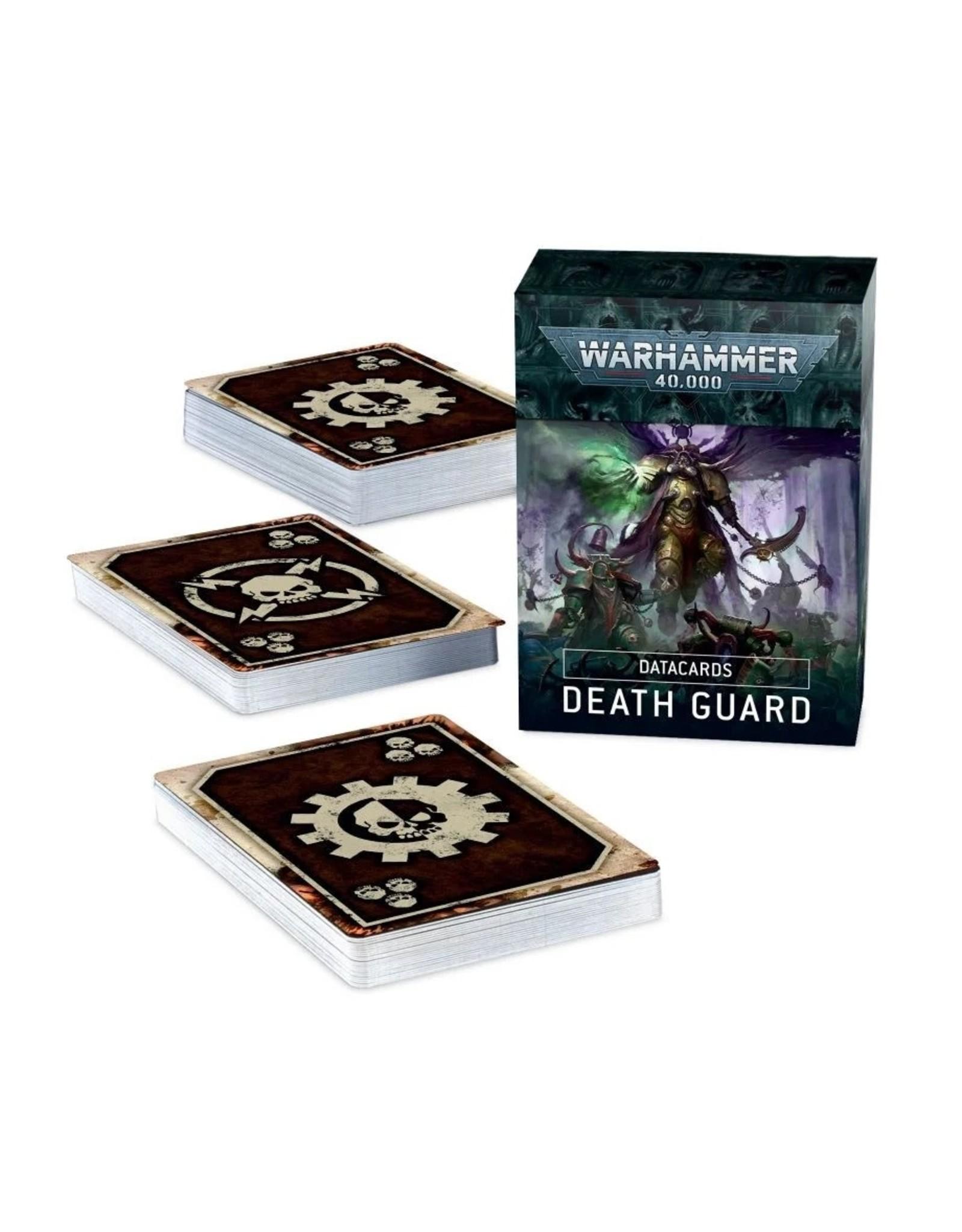 Warhammer 40K WH40K Death Guard Data Cards