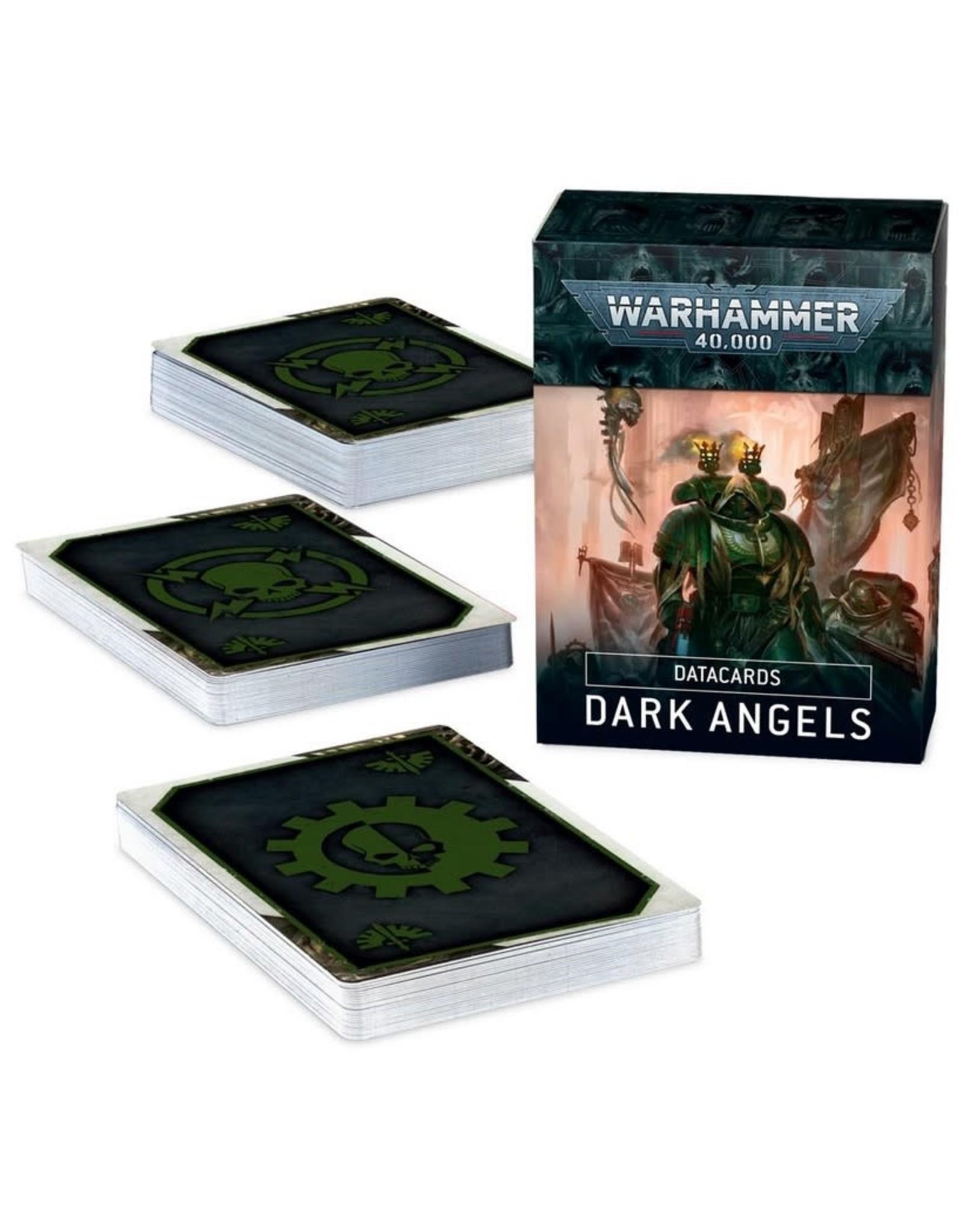 Games Workshop WH40K Dark Angels Data Cards