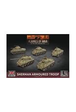 Battlefront Miniatures Flames of War: Sherman Armoured Troop