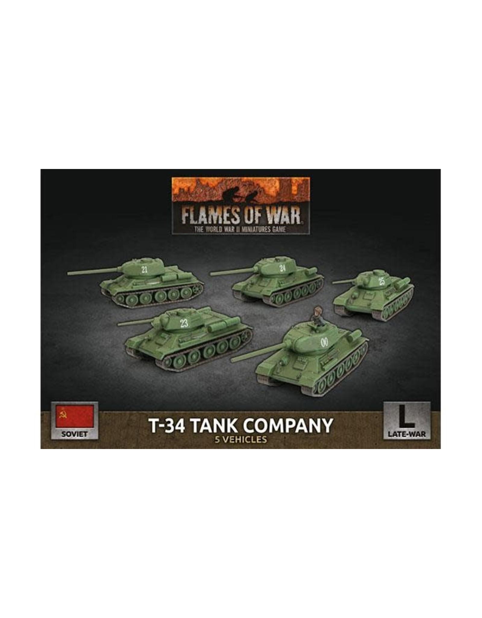 Battlefront Miniatures T-34 Tank Company