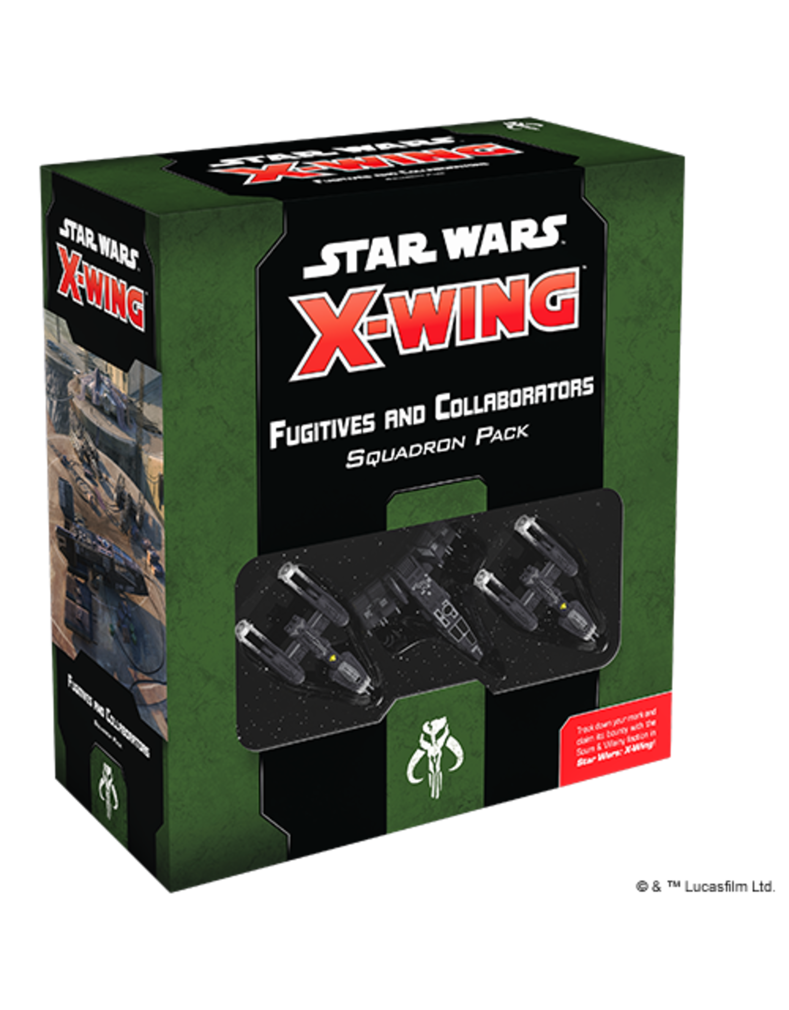Fantasy Flight Games Star Wars X-wing 2E: Fugitives and Collaborators Squadron Pack