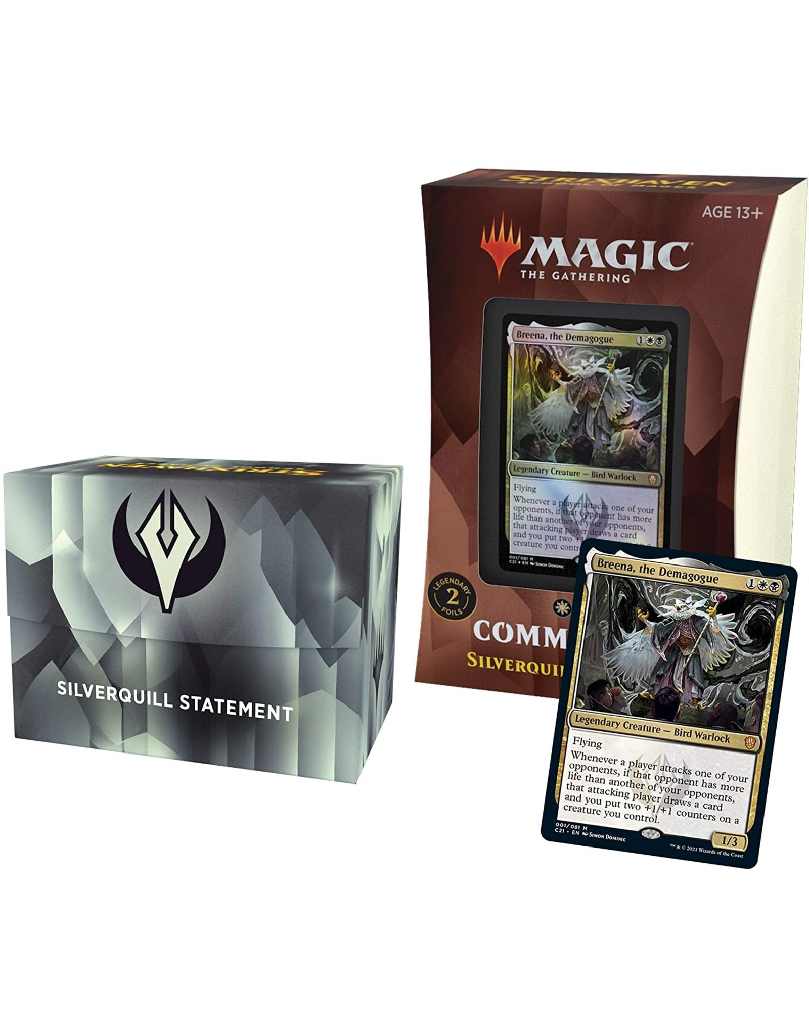 Wizards of the Coast MtG Strixhaven Commander Silverquill Statement