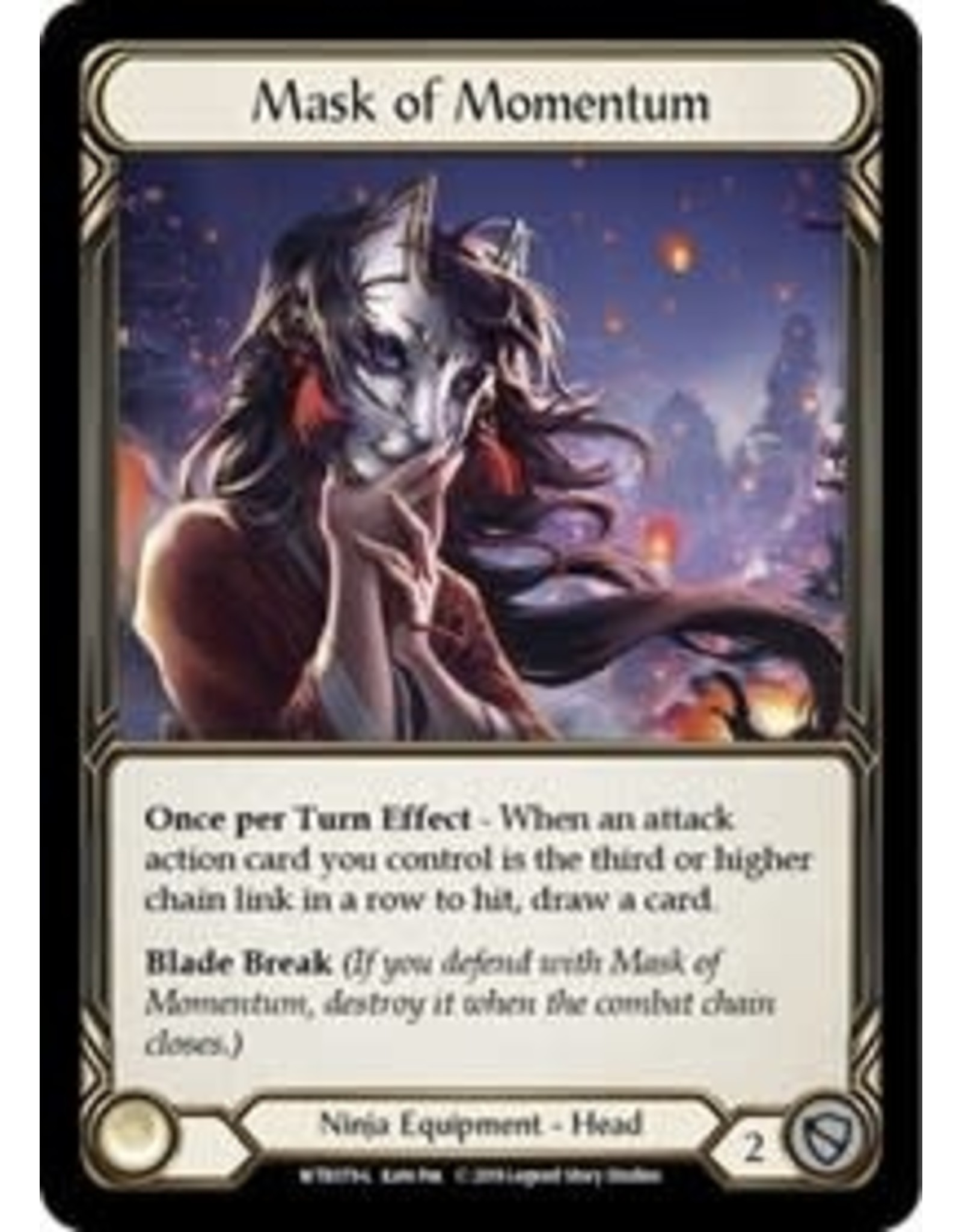 Legend Story Studios Flesh and Blood Single : Mask of Momentum Welcome to Rathe Rainbow Foil
