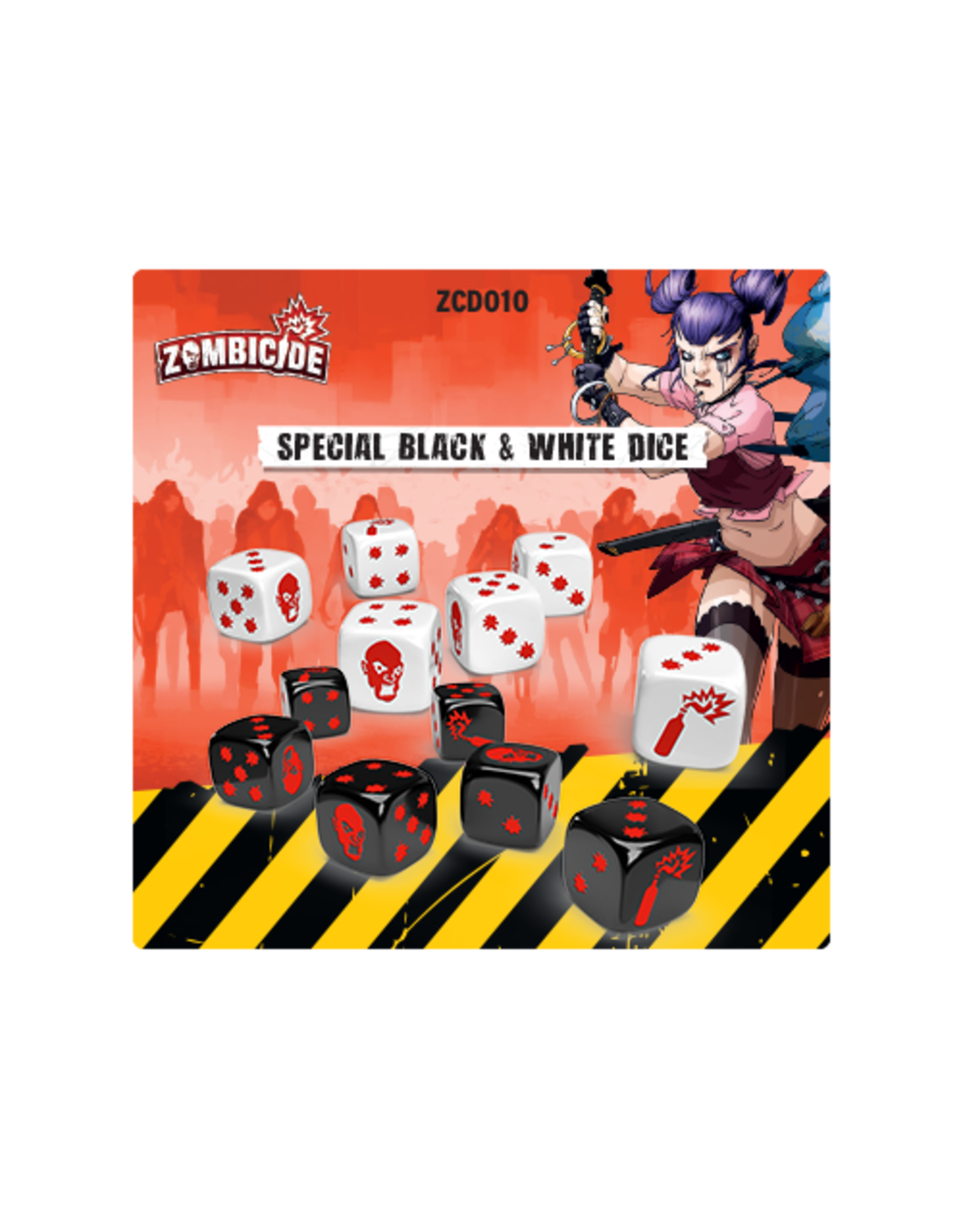CMON Zombicide 2nd Edition: Black and White Dice