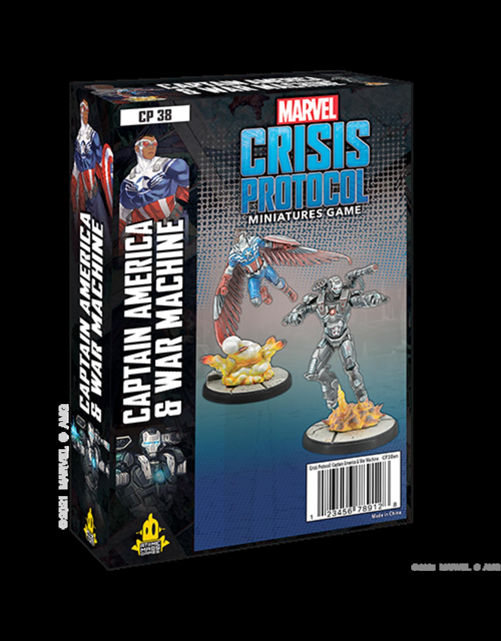 Atomic Mass Games Marvel Crisis Protocol - Captain America and War Machine