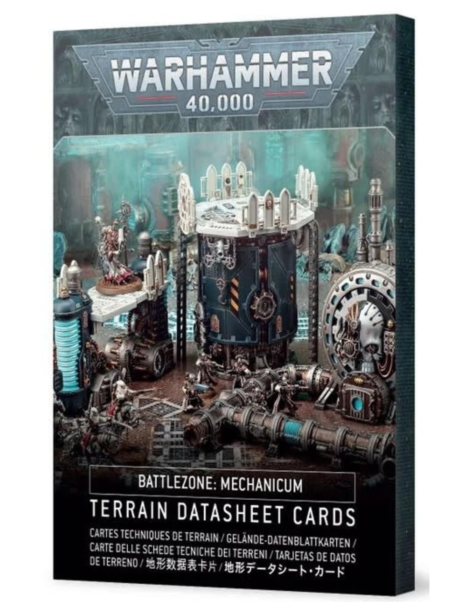 Games Workshop WH40K: Battlezone Mechanicum – Terrain Datasheet Cards