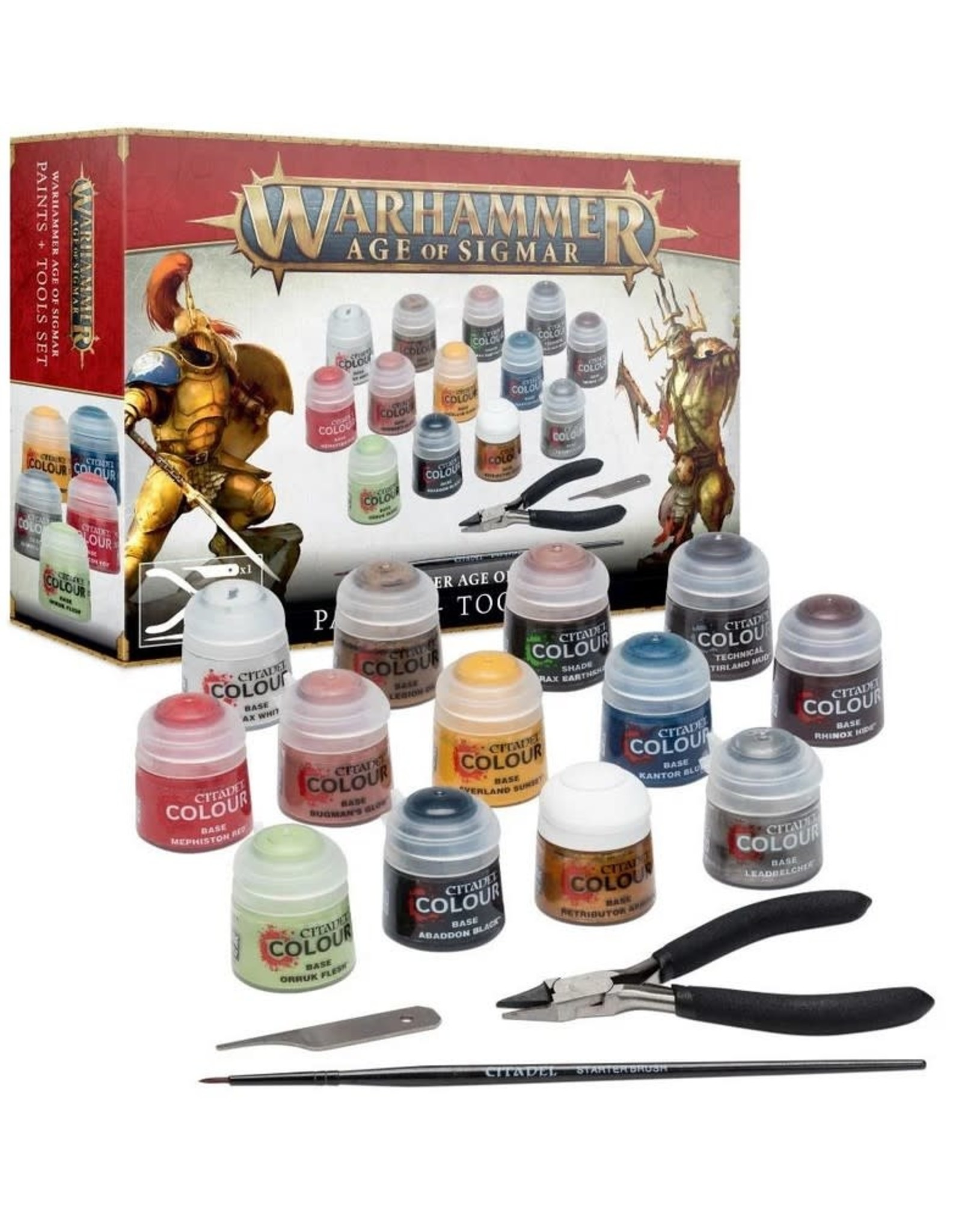 Warhammer AoS WHAoS: Paints + Tools Set