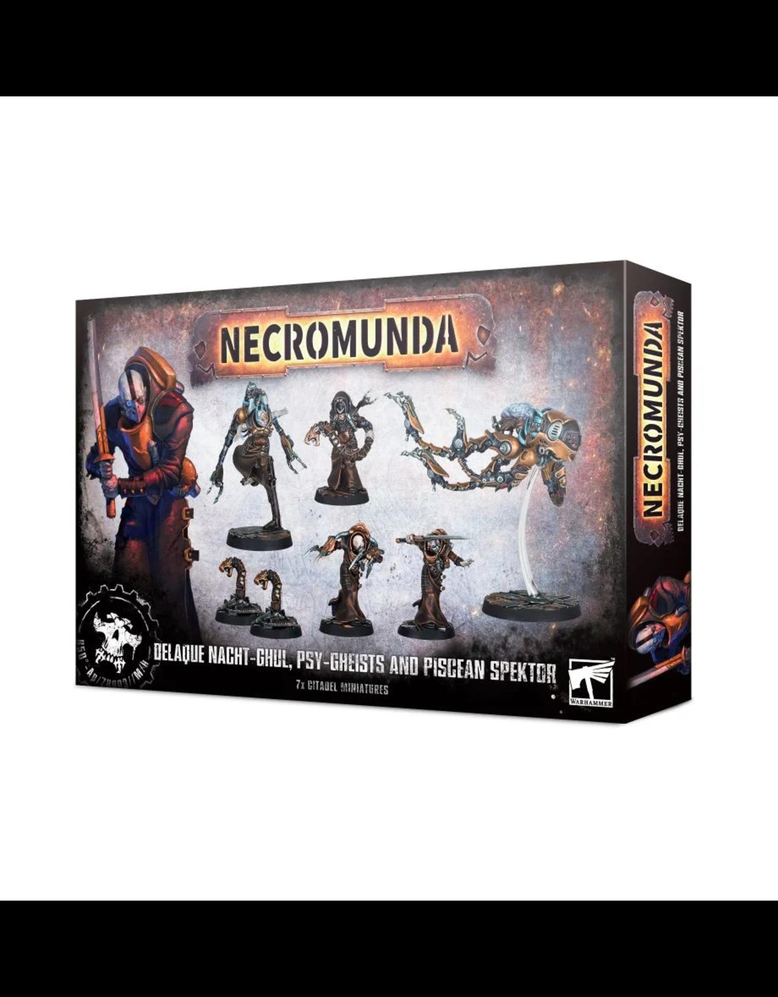 Games Workshop Necromunda- Delaque Nacht-Ghul, Psy-Gheists and Piscean Spektor
