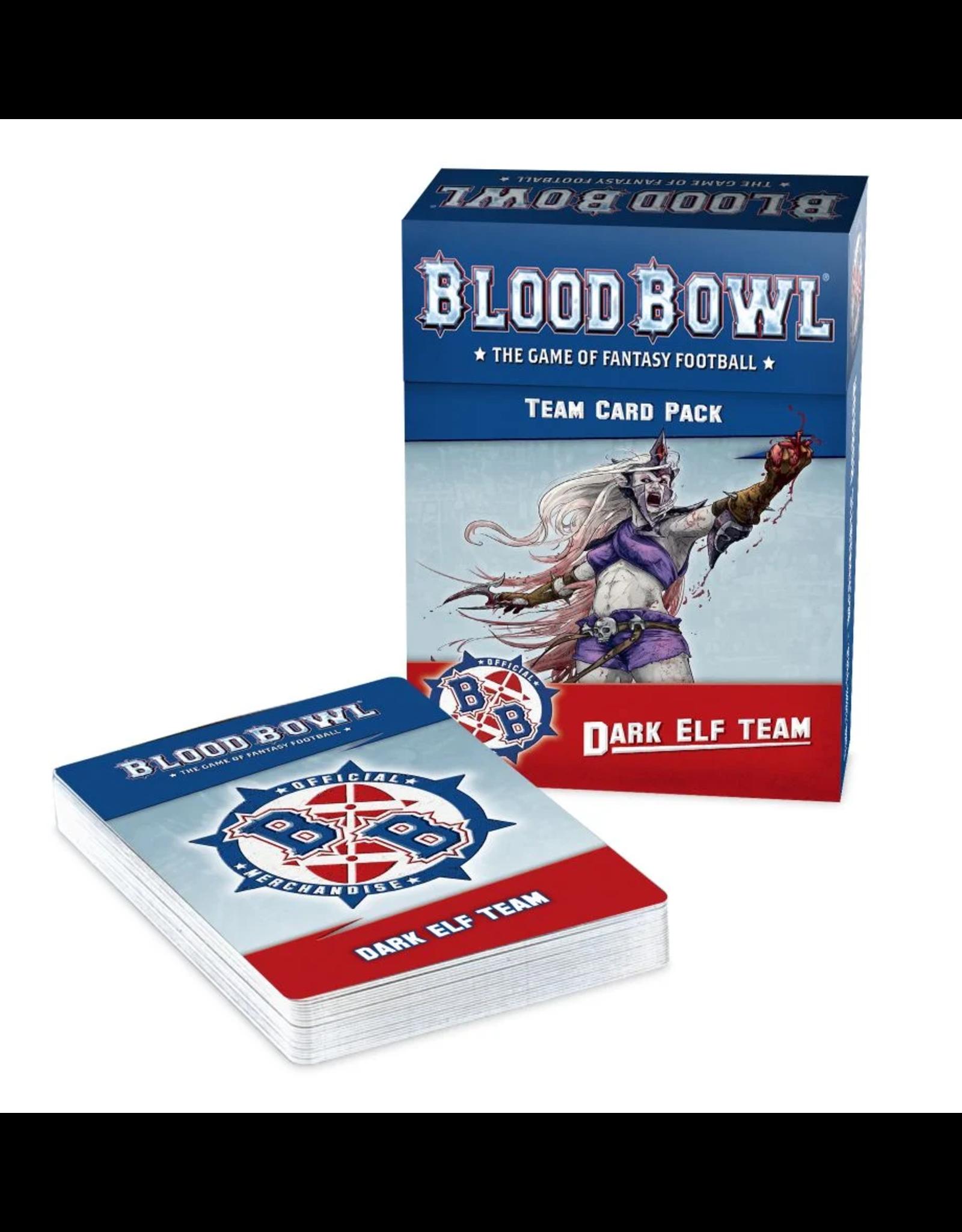 Games Workshop Blood Bowl: Dark Elf Team Card Pack