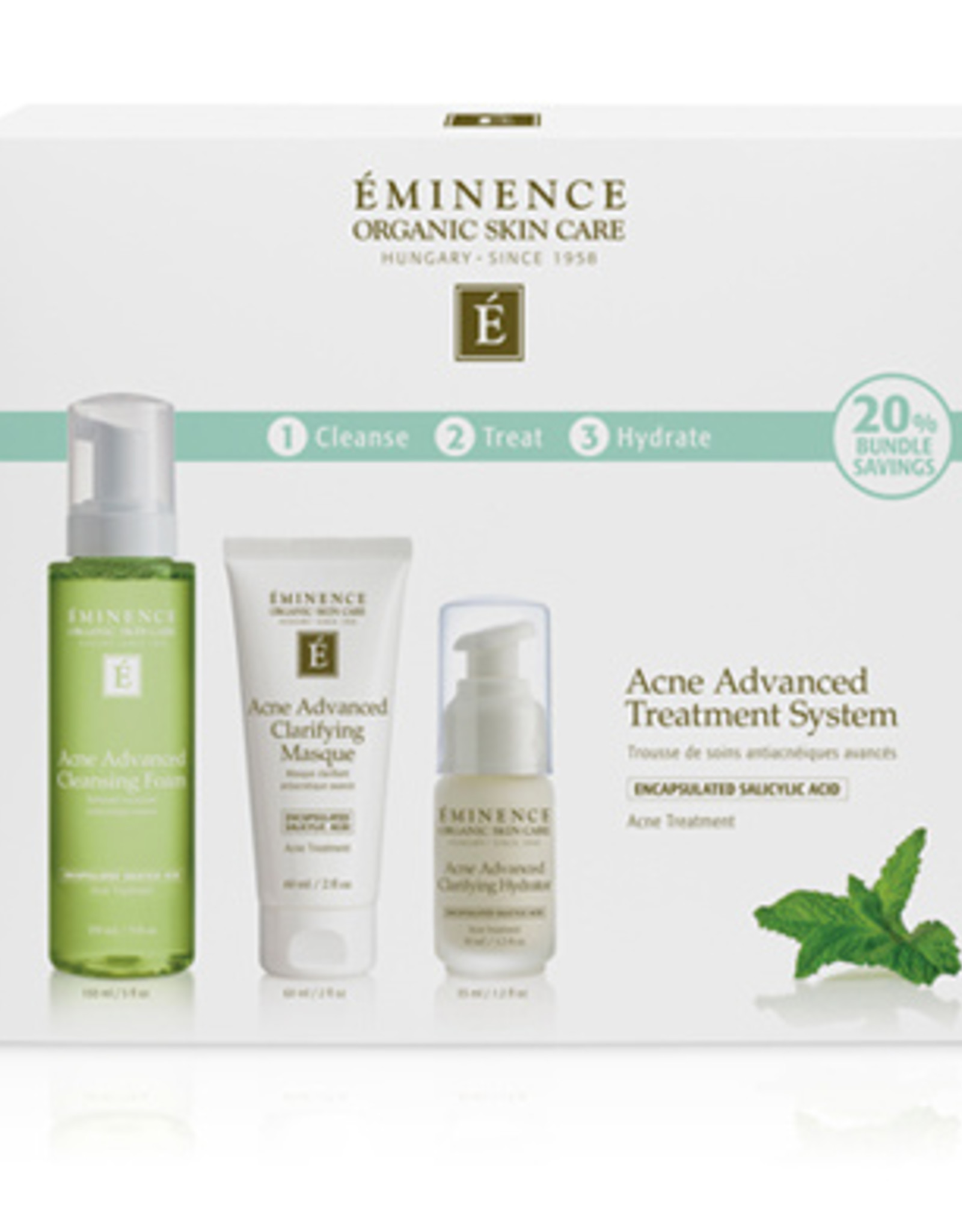 Eminence Organic Skin Care Acne Advanced Treatment System (DC)