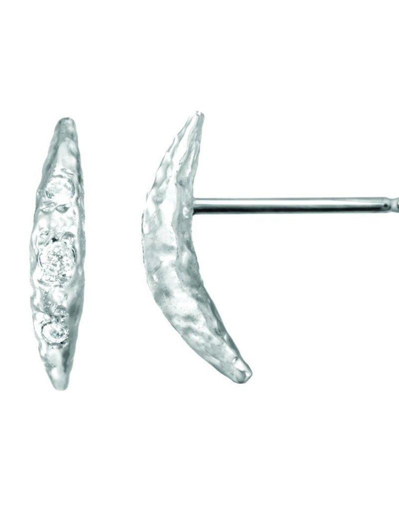 Rebecka Froberg Crescent Moon Stud Earrings