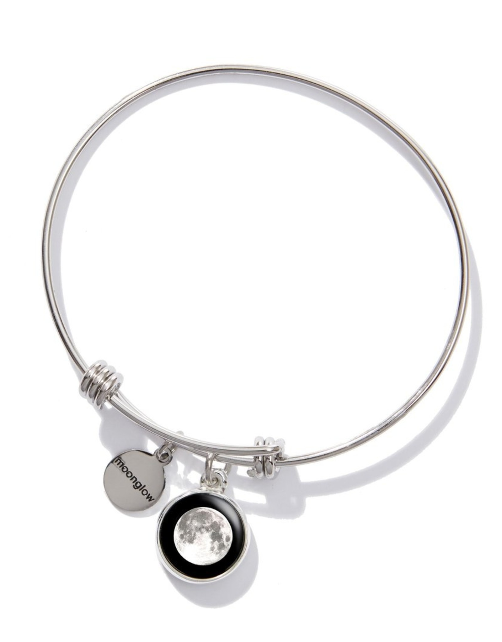 Moonglow Silver Bangle Bracelet