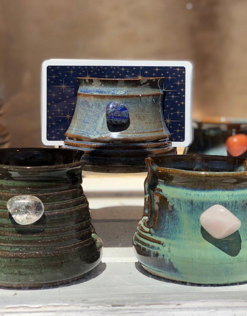 Burnt Mill Potters Crystal Tarot Card Holder (Assorted)